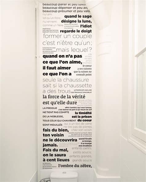 Impressionnant Le Unique Papier Peint #1: Papier-peint-Proverbes-noir-et-blanc-DECO-Toilettes.jpg