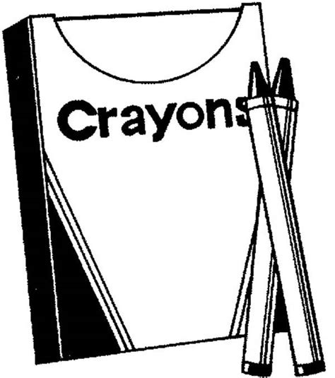 crayon box page coloring pages