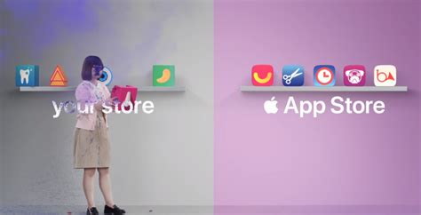 new apple ad takes not subtle jab at play store