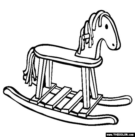 coloring pages of rocking horses free coloring pages thecolor