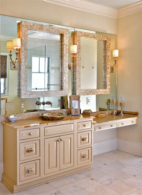 bathroom cabinets with knee space magnificent high wall mirror decorating ideas images in powder room contemporary design ideas