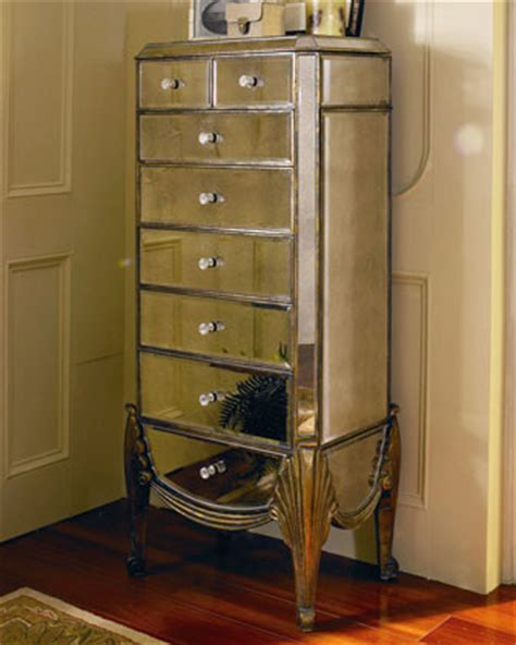 horchow mirrored armoire mirrored jewelry armoire traditional jewelry armoires