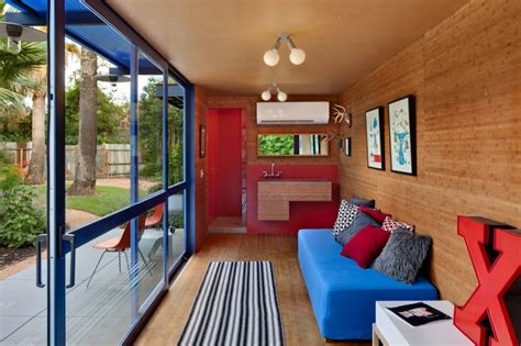 interior of shipping container homes shipping container homes poteet architects container guest house
