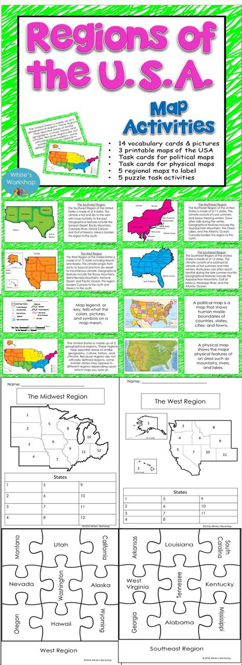 map of the 5 regions of the united states five regions of the united states worksheets wiildcreative