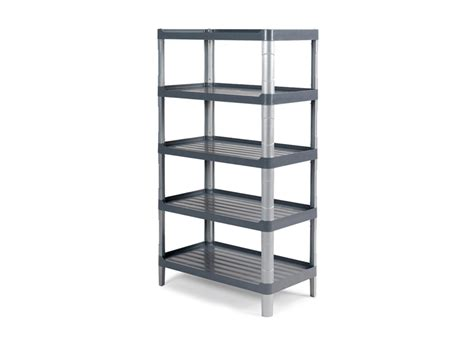 montanti scaffali scaffale silver grigio a 5 ripiani c montanti e piedini in