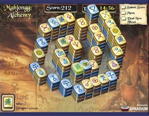 mahjongg alchemy game funnygamesus
