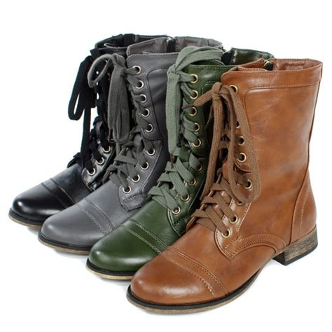comfortable combat boots women s comfortable lace up cowboy riding military combat