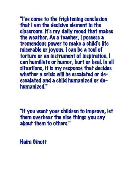 haim ginott teacher quotes quotesgram