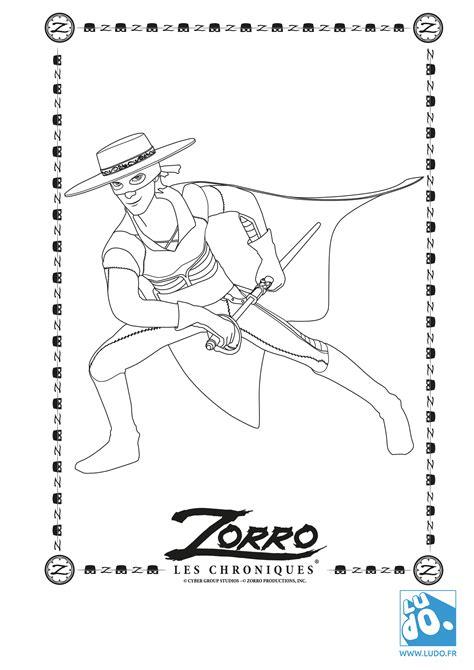 Les Coloriages Quot Les Chroniques De Zorro Quot Ludo