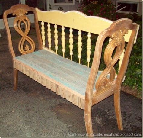 chairs into bench pin by industrial materials on repurposed for the home pinterest