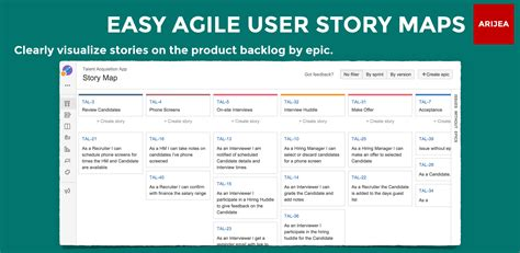 Solved User Story Map Agile Epic Template