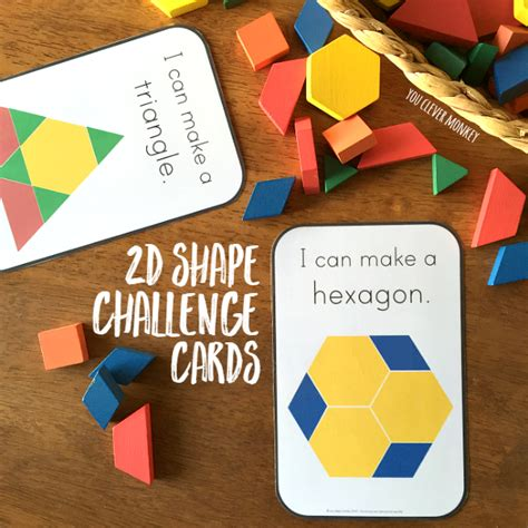 Can You Use An H M Gift Card Online - 2d shape pattern block challenge cards you clever monkey