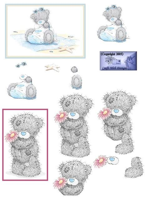 Me To You Decoupage - 24 best images about 3d tatty teddy on tatty