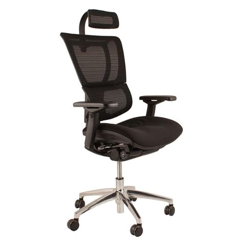 office armchair aof ergohuman office chairs in mesh with headrest