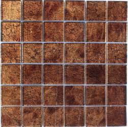 brown foil glass mosaic tile 2 quot x2 quot bath kitchen