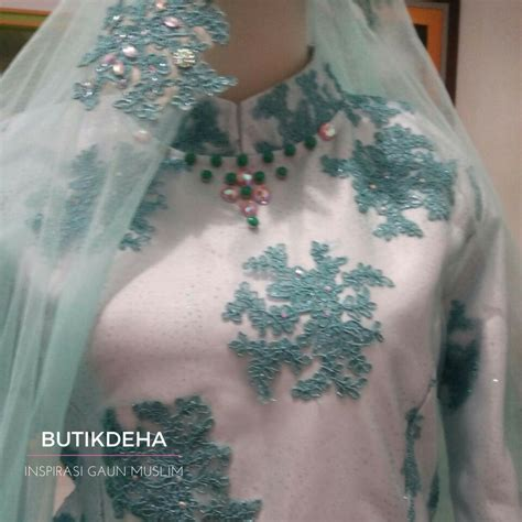 Ready Stock Gaun Pengantin Hijau Lumut Wedding Gown Baju Pengantin New inspirasi gaun pengantin hijau butik jahit pesan jual baju gaun gamis pesta