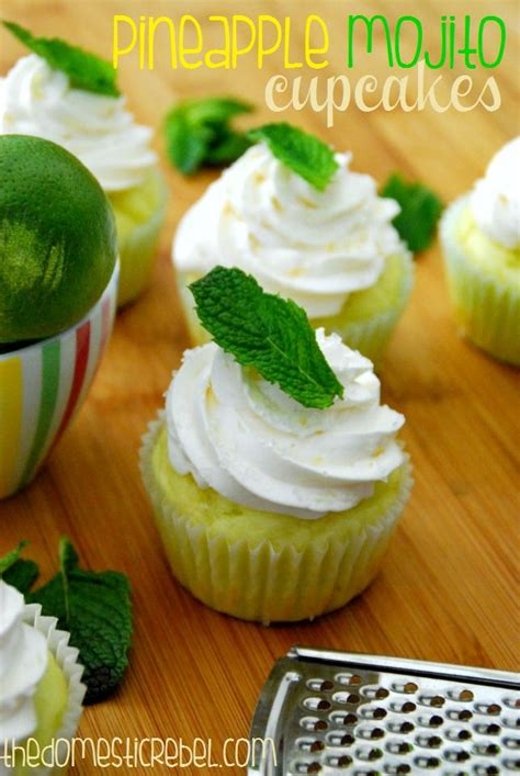pineapple mojito recipe 130 best cupcakes alcohol infused images on pinterest