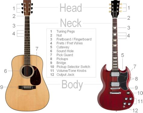 parts of the guitar clearest guitar parts diagram