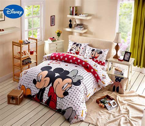 disney print bedding set cotton rosy polka dot