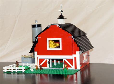 lego farm house and lego barn lego ideas old timer s red barn