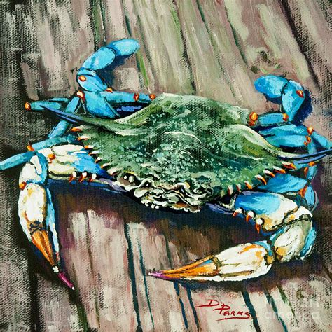 crabby blue painting by dianne parks
