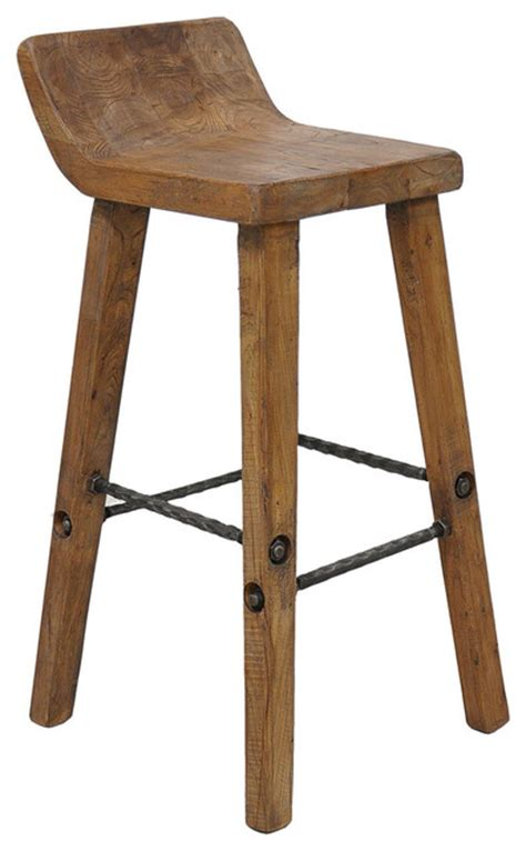 Tam Bar Stool   Rustic   Bar Stools And Counter Stools   by Overstock.com