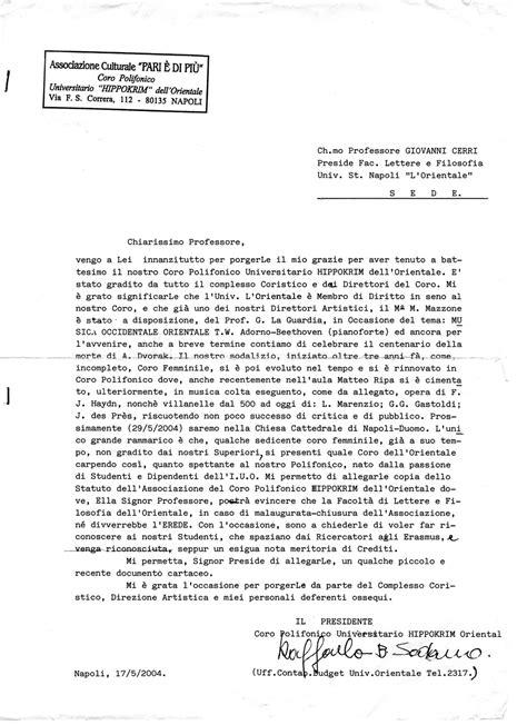 lettera al preside della facolt 224 di lettere e filosofia