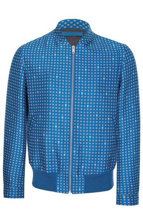 Jaket Mix Line mainline mcqueen wool silk mix jacket blue