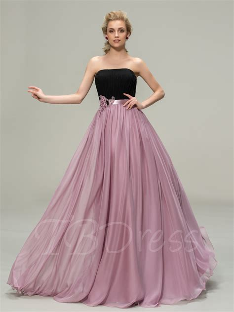 Two Tone A Line Pleats Ribbon Bridesmaid Dress : Tbdress.com