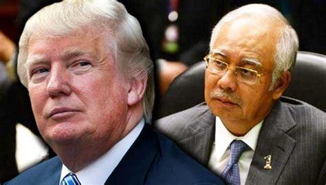 donald trump malaysia pm najib jumpa trump di white house beli jet boeing usd10