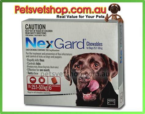 nexgard for dogs 60 120 lbs nexgard for large dogs 25 1 50 kg 60 1 120 lb petsvetshop au