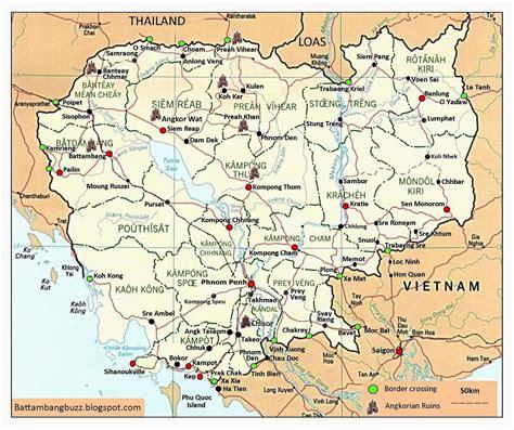 Cambodia All Cambodia Map Battambang