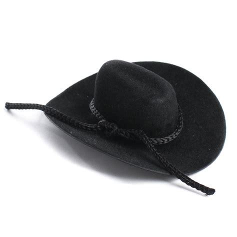 black doll supplies black flocked miniature cowboy hat doll hats doll