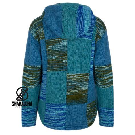 Patchwork Jackets - shakaloha shakaloha patchwork aqua fleece lined wool
