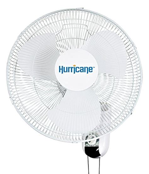 wall mount fan amazon hurricane wall mount fan 16 inch classic series wall
