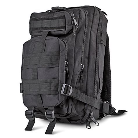 molle daypack flexzion tactical backpack black outdoor unisex