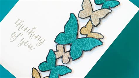 How To Make Glitter Stay On Paper - glitter die cutting