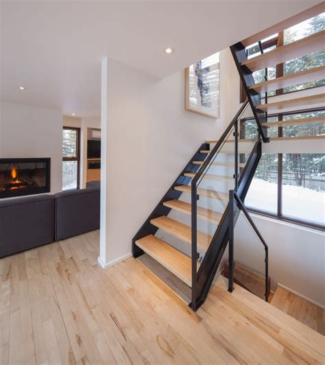 12 glorious mansion staircase designs that are going to gallery of cabane 217 bourgeois lechasseur architectes 4