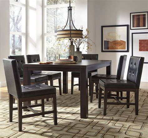 Chocolate Dining Room by Athena Chocolate Rectangular Dining Room Set P109d