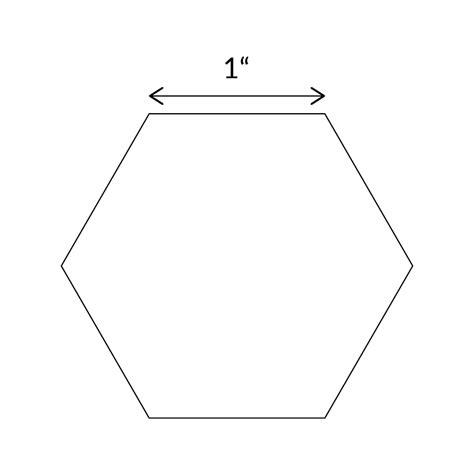 1 5 inch hexagon template hexagons sew quilt