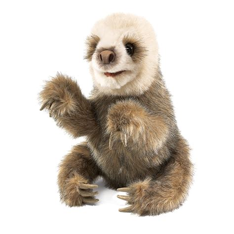 baby sloth puppet by folkmanis puppets at