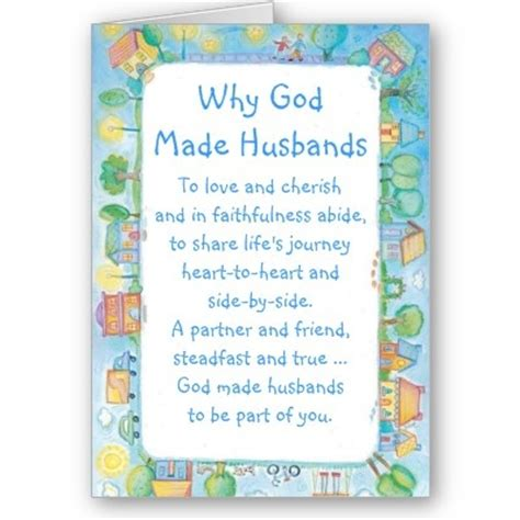 Christian Birthday Quotes For Husband Happy Birthday Husband Card Why God Made Husbands From
