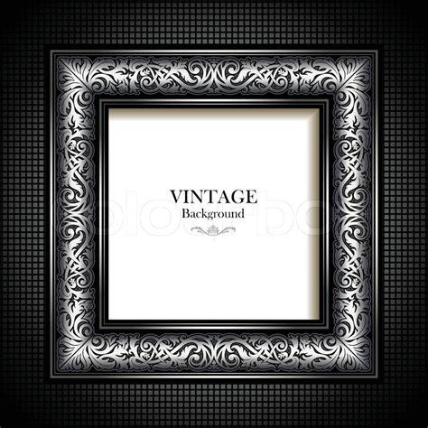 victorian pattern frame vintage silver background antique victorian ornament