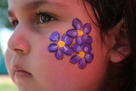 painting ideas jolly flower butterfly face paint by vicki painting