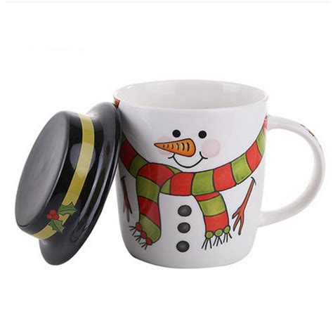 best ceramic mugs aliexpress com buy cartoon santa snowman ceramic