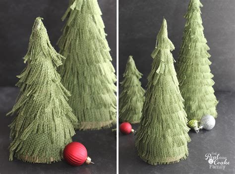how to make a burlap christmas tree crafts make your own adorable burlap trees