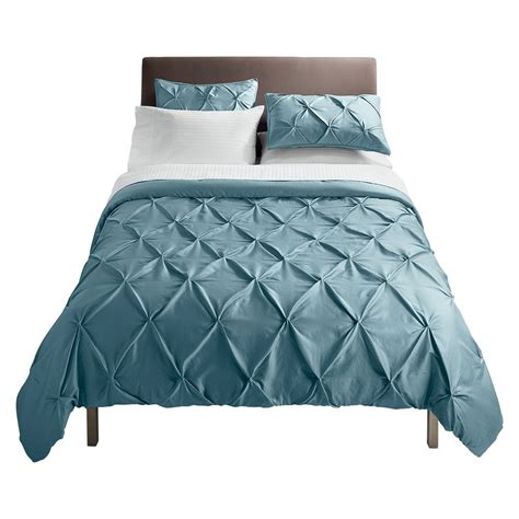 threshold pinched pleat comforter set