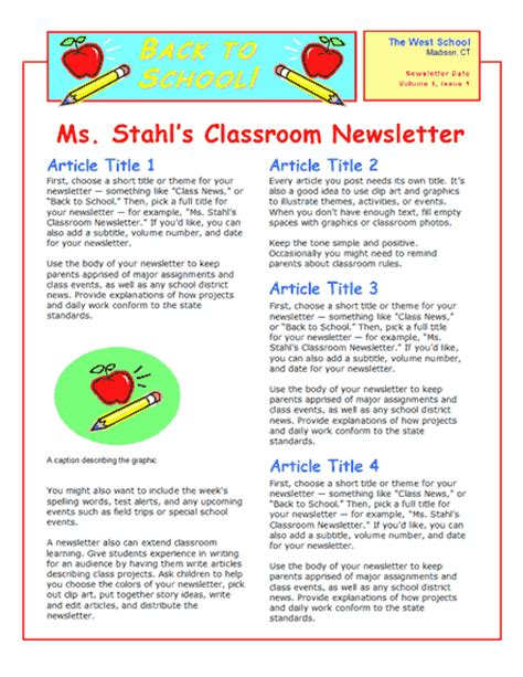 How To Create A Daycare Newsletter How To Write A Newsletter Template