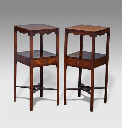 Bed Pedestal Pair Of Antique Bedside Tables Pair Of Washstands