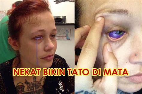 usai bikin tato  bola mata wanita  kehilangan